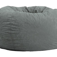 "Classic 88"" Steel Grey Comfort Suede Bean Bag"