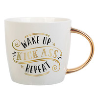 "SLANT COLLECTIONS ""WAKE UP KICK ASS REPEAT"" MUG"