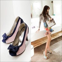 Design Stylish Summer Butterfly High Heel Peep Toe Plus Size Shoes Sandals [4920242372]