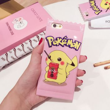Cute Pokemon Pikachu Protective Case For Iphone 6 6s plus