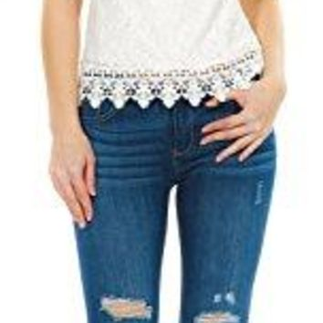 Womens Off Shoulder Tops Sexy Lace Crochet Blouse Short Sleeve TShirt