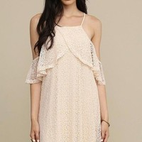 Brooke Cold Shoulder Lace Dress
