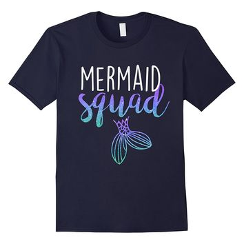 Mermaid Squad Mermaid Birthday Party Shirt