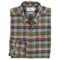 Pigsah Plaid Sport Shirt in Dark Sage by Southern Tide