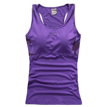 Trendsetter NIKE Woman Casual Gym Sport Yoga Embroidery Print Shirt Top Tee