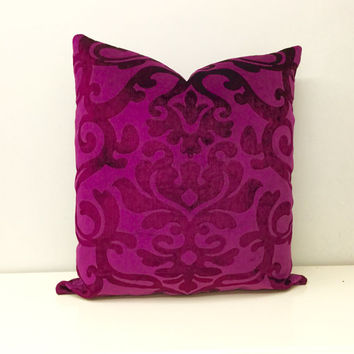 Pink Velvet Pillow Cover, Fuchsia Velvet Pillow, Pink Pillow, Velvet Pillow,Pink Velvet Cushion Covers,Fuchsia Pink Couch Sofa Throw Pillows
