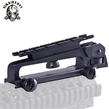SINAIRSOFT Detachable Carry Handle W/ Dual Aperture A2 rear sight See through Picatinny Rail Mount Combo M4 M16 AR15