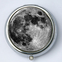 Full Moon pillbox PILL case box holder outer space