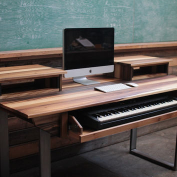 Minimalist Modern Studio Desk for Audio / Video / Music / Film Production