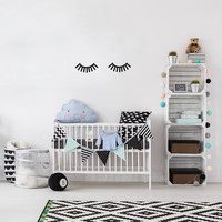 Lashes Wall Decal, Makeup Wall Sticker, Lashes Decal, Kids Sticker, Typography Decal, Nursery Decal, Livingroom Decor, Bedroom Wall Decal