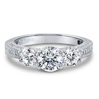 Sterling Silver Round CZ 3 Stone Art Deco Ring 2.66 ct.tw2 Review(s) | Write A ReviewSKU# R915-01