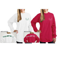 University of Miami Women's Football Long Sleeve T-Shirt