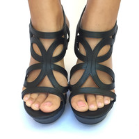 Butterfly Effect Wedges In Black