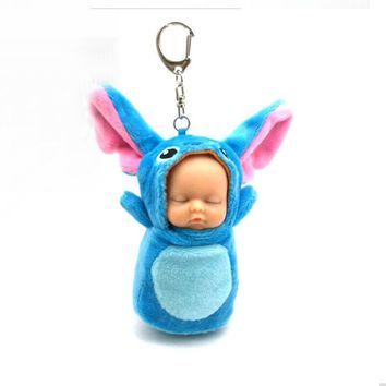 Cute Bear 2018 Cartoon  Pikachu born Sleeping Baby Plush Doll Cute Kawaii Key chain Pendant kids Toy gift for childrenKawaii Pokemon go  AT_89_9