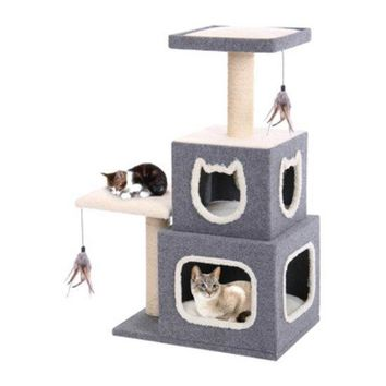 Cat-Life™ CATF28 Multi-Level Cat House Furniture for Entertaining Your Cat