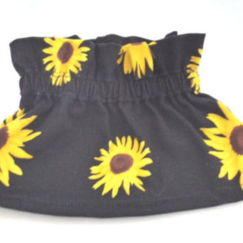 Sunflower Baby Toddler Skirt,Yellow,  Kids Clothes, Hipster Style, Cool Kids, Paper Bag Style,  Easy Dressing, Dress Yourself