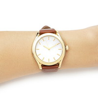 Feather Leather Analog Watch