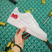 Comme des Garcons Play x Nike Air Force 1 AF1 CDG White Sneakers - Best Online Sale
