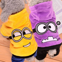 Warm Winter Pet Dog Clothes Fleece Dogs Minions Costume Cute Pets Hoodie Coat Jacket Autumn Jumpsuit Clothing for Puppy Dogs 39