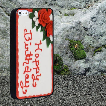 Birthday Cake Case for iPhone 4/4s,iPhone 5/5s/5c,Samsung Galaxy S3/s4 plastic & Rubber case, iPhone Cover
