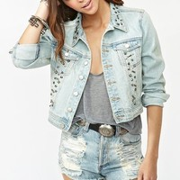 Nasty Gal x MINKPINK Studded Denim Jacket in  Clothes at Nasty Gal