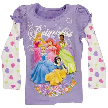 Disney Princesses - Floral Grip Girls Juvy 2Fer