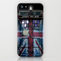 Tardis doctor who with Union jack paint apple iPhone 4 4s, 5 5s 5c, iPod & samsung galaxy s4 case by Three Second