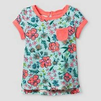 Baby Girls' T-Shirt Cat & Jack™ - Aqua Float : Target