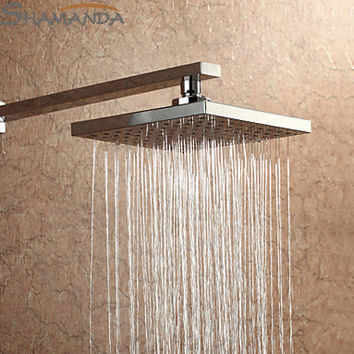 Bathroom Product 8 Inch Square Abs Rainfall Shower Head W/ Plastic Chrome Rain Shower Head 8 Ceiling 21010