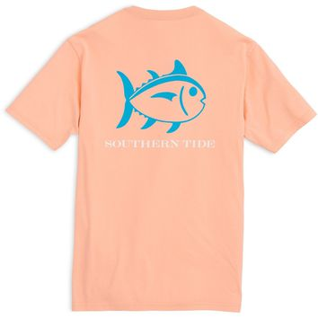 Southern Tide Beachside Skipjack T-Shirt - Peach Fizz