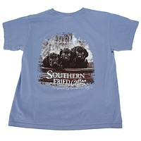 Youth Little Rascals Tee Shirt in Washed Denim by Southern Fried Cotton