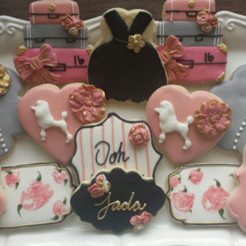 Paris Themed Birthday Party Cookies, Sweet Sixteen, French Bridal Shower