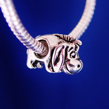 Eeyore Winnie the Pooh Disney European Charm Bead Jewelry Silver Plated designed to fit your Bracelet or style