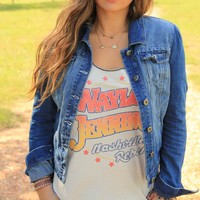 NASHVILLE REBEL-WAYLON TANK - Junk GYpSy co.
