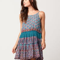 PATRONS OF PEACE Paisley Border Print Dress | Short Dresses