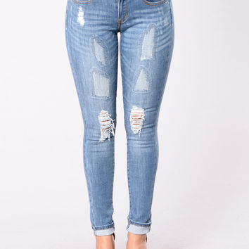 Flex Jeans - Medium Blue