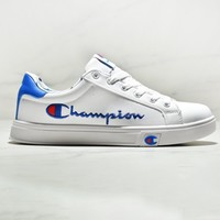 CHAMPION Sneakers Flat Women man Running Shoes White+blue
