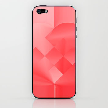 Danish Heart Love iPhone & iPod Skin by Gréta Thórsdóttir #love #heart #girly #ipod #red #scarlet #ombre #pattern #iphone