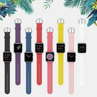 BMBEAR For Apple Watch Band 38mm 42mm Soft Silicone Replacement iWatch strap for Apple Watch Series 3 Series 2 Series 1