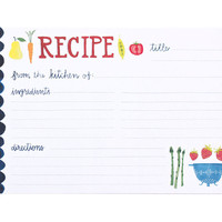 Fruit and Veggie Recipe Cards