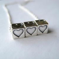 Sterling Heart Necklace Sterling Silver Heart by juliegarland