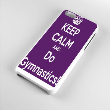 Keep calm and do Gymnastics Purple iPhone 5c Case
