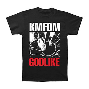 KMFDM Men's  Godlike T-shirt Black