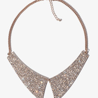 Rhinestoned Collar Necklace
