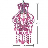 Wake Up Frankie - Petite Salon Chandelier - Fuchsia