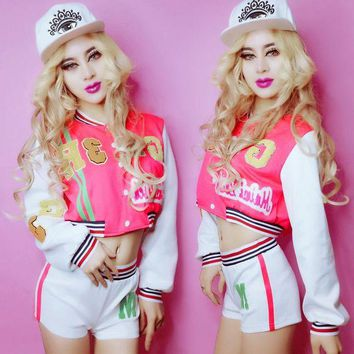 DCCKH6B nightclub DJ singer dance wear new hip-hop clothing DS costume Cheerleader costumes set for women