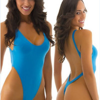 New 2015 super push up triangl brazilian thong swimsuit  one piece swimsuit bodysuit For Women bathing suit