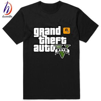 Game Gta 5 Printed T-shirts 2017 Grand Theft Auto T shirt Camisetas Hombre Gta Vice City Tee shirt Homme Free Shipping To Russia