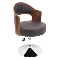 Cello Accent Chair , Walnut/Brown