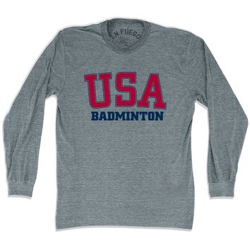 USA Badminton Long Sleeve T-shirt